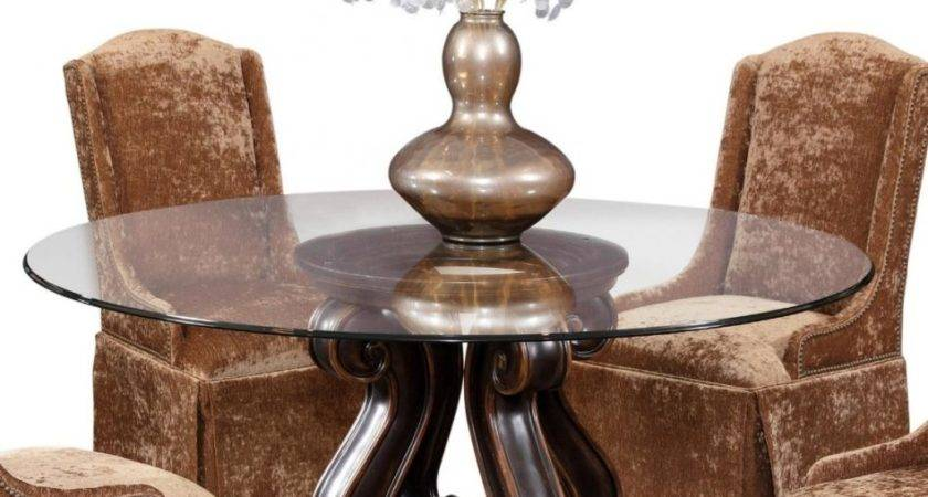 Furniture Round Dining Table Pedestal Base Bobreuterstl
