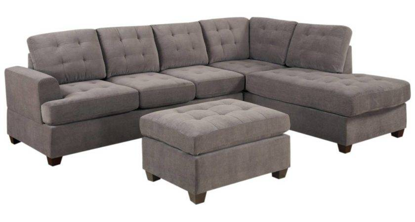 Furniture Small Sectional Sofa Chaise Ottoman