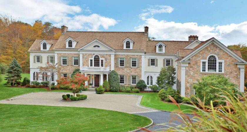Georgian Colonial Style Mansion New Canaan Connecticut