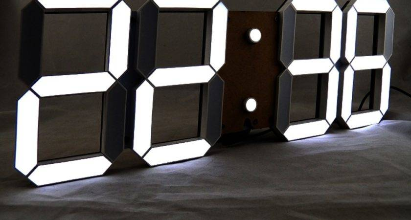 Giant Led Digital Wall Clock