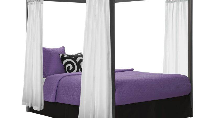 Girls Twin Canopy Bed Curtains House Photos