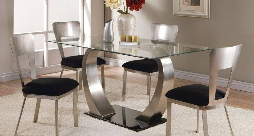 Glass Dining Table Set Home Designs