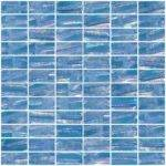 Glass Tile Inch Atmospheric Blue Textured Recycled