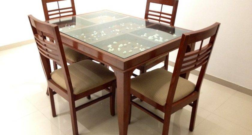 Glass Top Dining Tables Wood Base Furniture Fancy