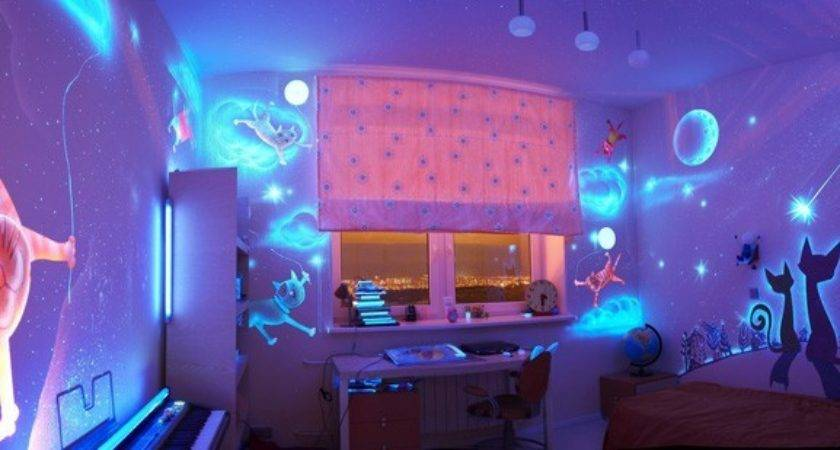 Glow Dark Bedroom Decoration
