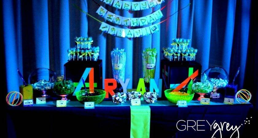 Glow Dark Wedding Sweets Table