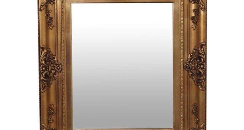 Gold Frame Victorian Style Hanging Wall Mirror Chairish