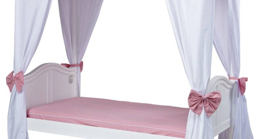Goldilocks Poster Bed Pink Scallop Canopy Curtains