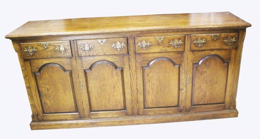 Good Quality Distressed Oak Dresser Base Loveantiques