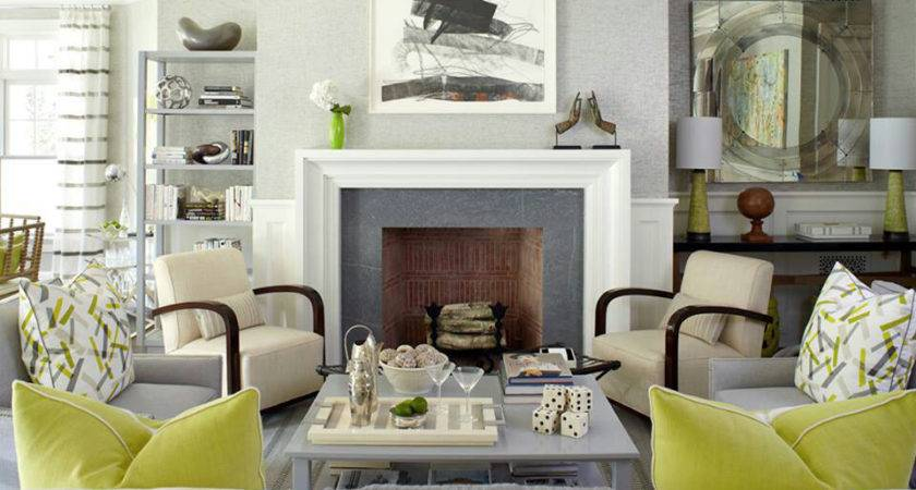 20 Stunning Grey And Green Living Room
