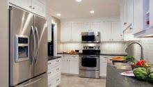Gray Kitchen Cabinets White Countertops Quicua
