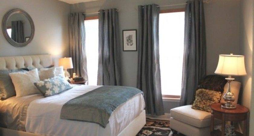 Great Color Soothing Blue Gray Bedroom