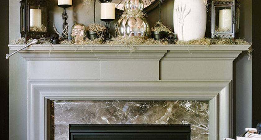 Great Halloween Mantel Decorating Ideas Digsdigs