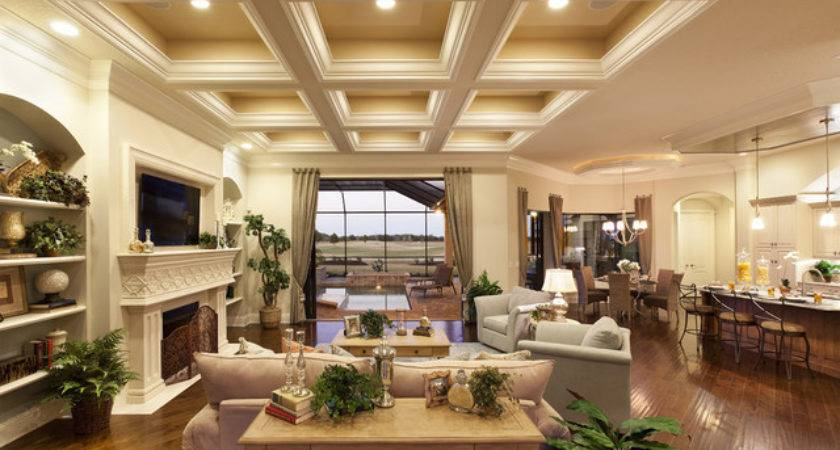 Great Room Traditional Living Tampa Lee