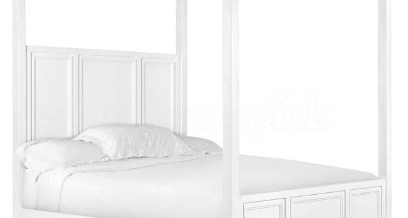 Great White Canopy Bed Queen Pst