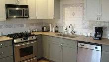 Grey Paint Color Kitchen Cabinets Interior