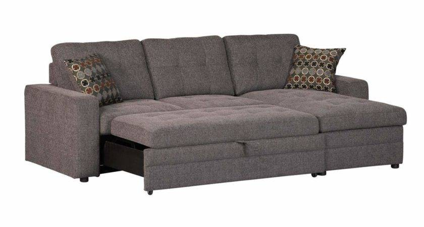 Gus Small Sectional Sofa Contemporary Style Tufts