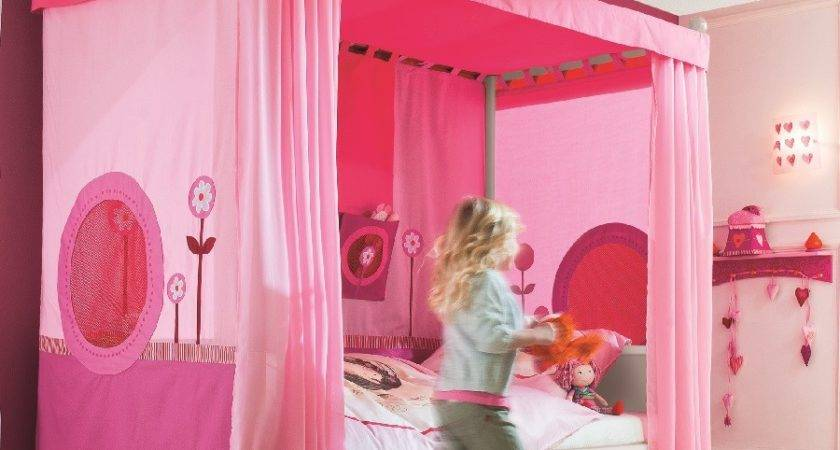 Haba Matti Four Poster Canopy Bed Pink Littledreamers