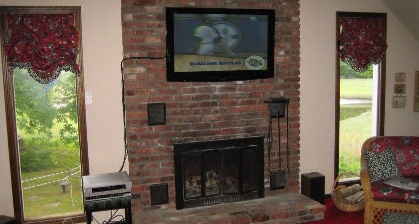 Hang Above Brick Fireplace Hide Wires Best