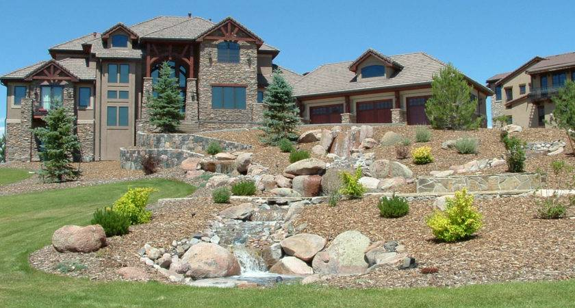 Here Front Lawn Landscaping Ideas Side Hill