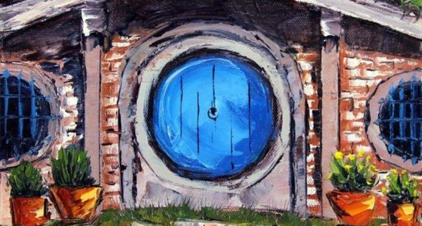 Hobbit House Painting Lord Rings