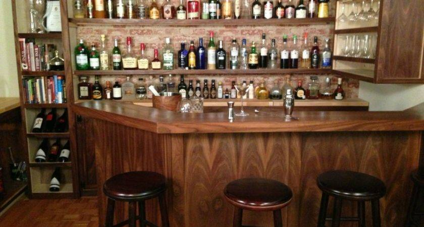 Home Bar Built Professional Bartender Takes Diying