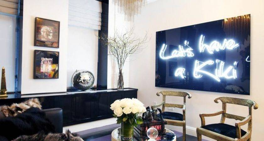 Home Decor Trend Neon Signs Real Houses