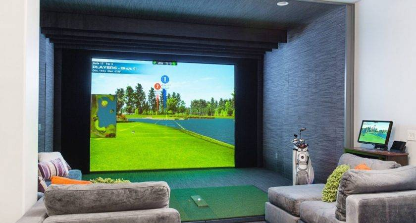 Home Entertainment Indoor Golfing Insidesign