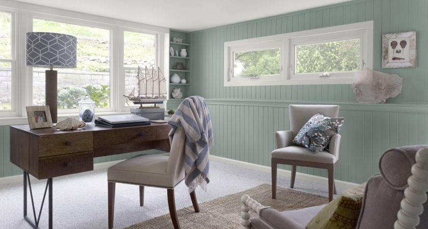 Home Office Comfortable Color Schemes Interior