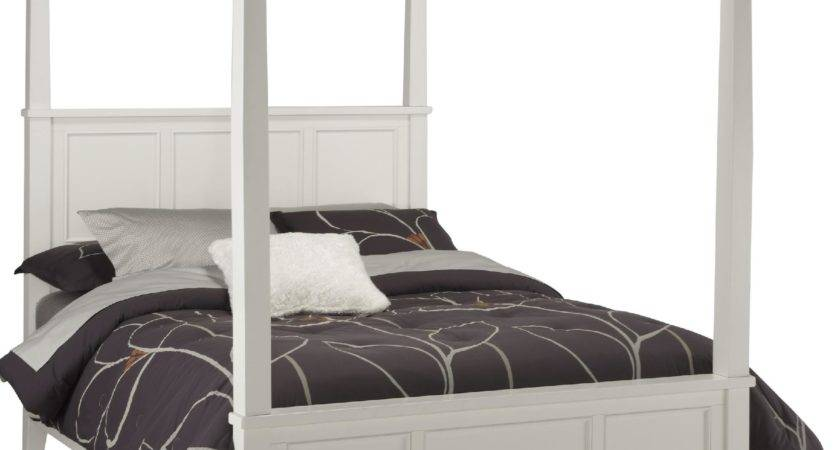 Home Styles Bedford Black King Canopy Bed