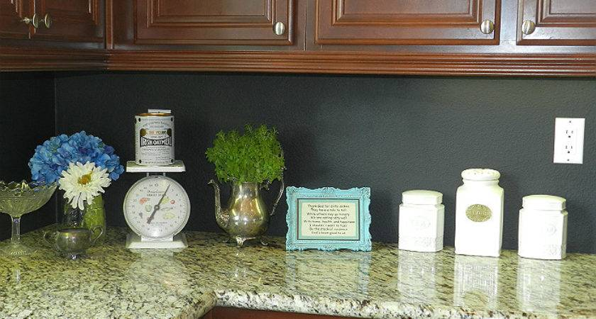 Hometalk Kitchen Chalkboard Backsplash