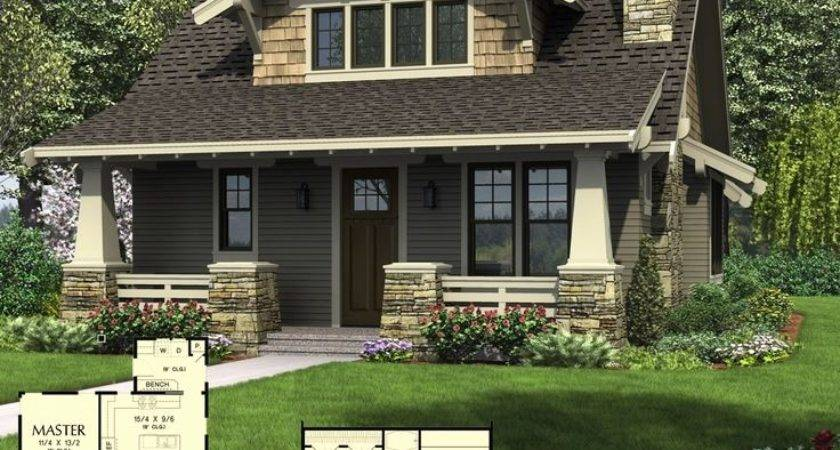 House Plan Drummond Plans Carriage Bungalow Bedroom