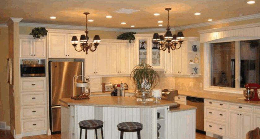 Ideas Country Kitchen Smooth Redwood Counter