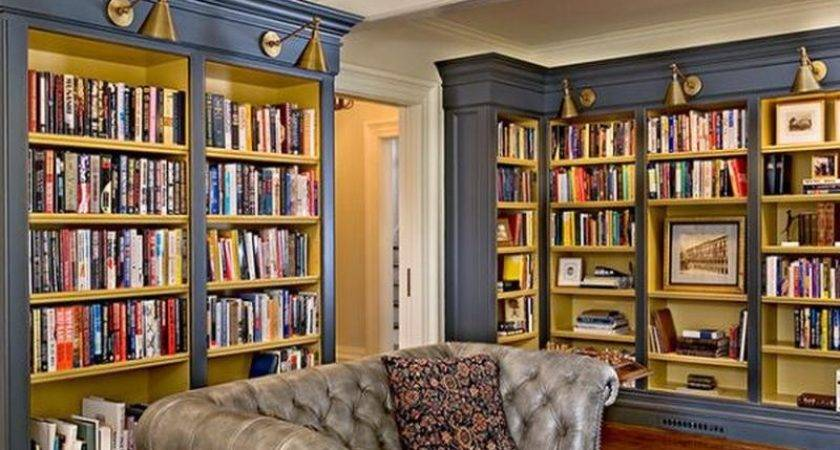 Ideas Design Home Library Interior