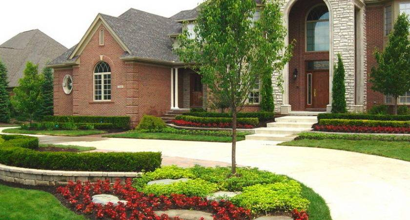 Ideas Landscaping Front Yard Stone Wall