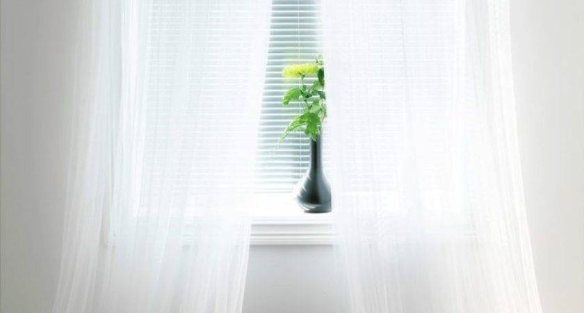 Ikea Sheer White Curtains Panels Lill Bed Mesh