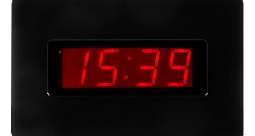 Illuminated Digital Wall Clock Bing