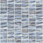 Inch Dove Gray Textured Recycled Glass Subway Tile