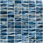Inch Industrial Blue Textured Recycled Glass Subway Tile