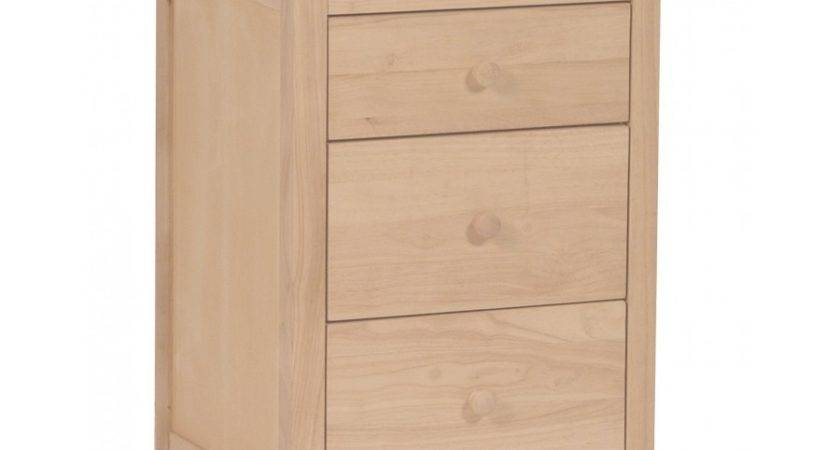 Inch Lancaster Drawer Nightstand Bare Wood Fine