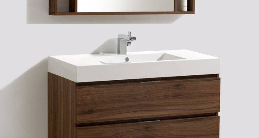 Inch Wall Mounted Modern Bathroom Vanity