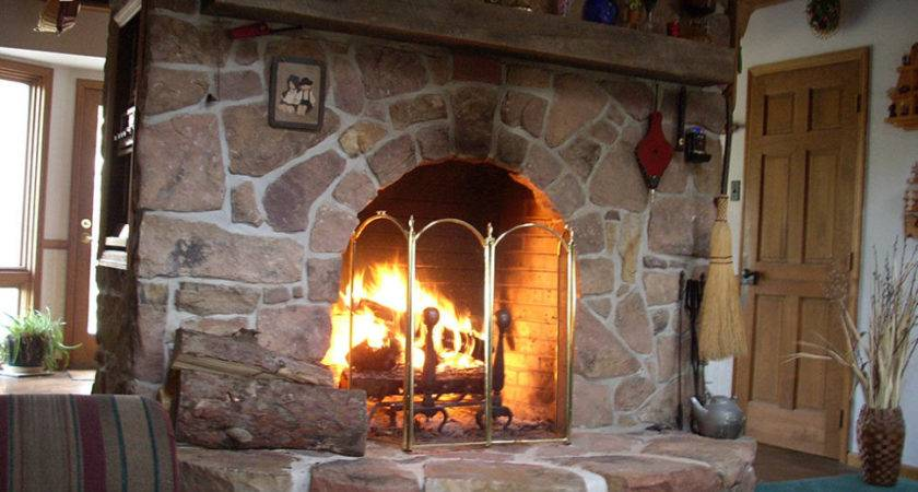 Incredible Large Stone Fireplace Design Rustic