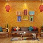 Indian Ethnic Living Room Designs Folk Lore Design