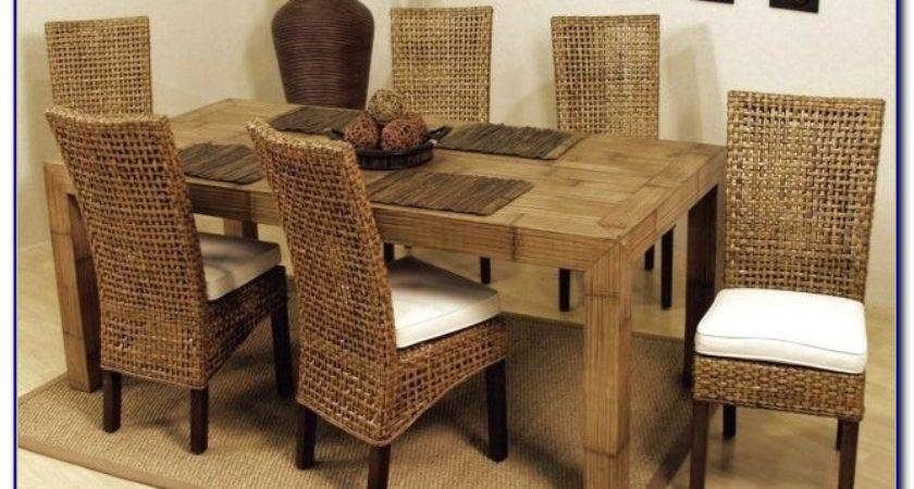 Indoor Wicker Dining Room Chairs Home