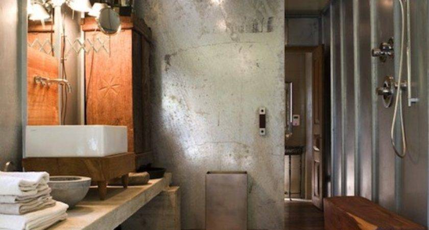 Industrial Bathroom Design Modern Mell