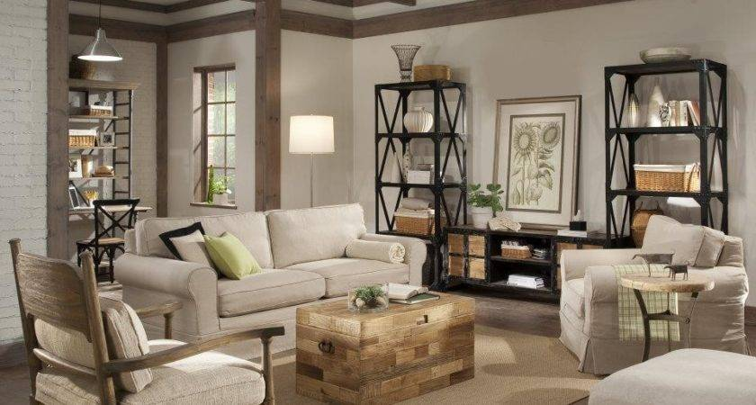 Industrial Bookcase Living Room Eclectic Country