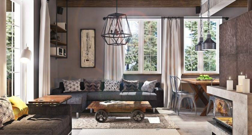 Industrial Living Room Design Dgmagnets