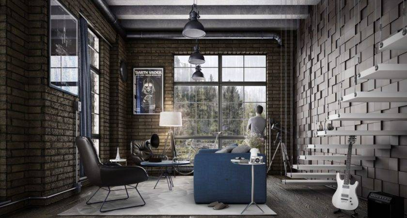 Industrial Style Living Room Design Essential Guide