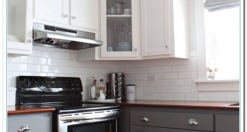 Information Two Tone Kitchens Designs Home