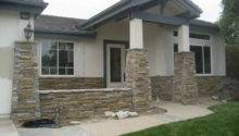 Inspiring Stone Facade House Home Building Plans